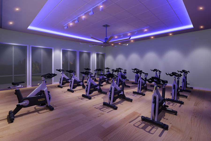 Group fitness class in Delray Beach