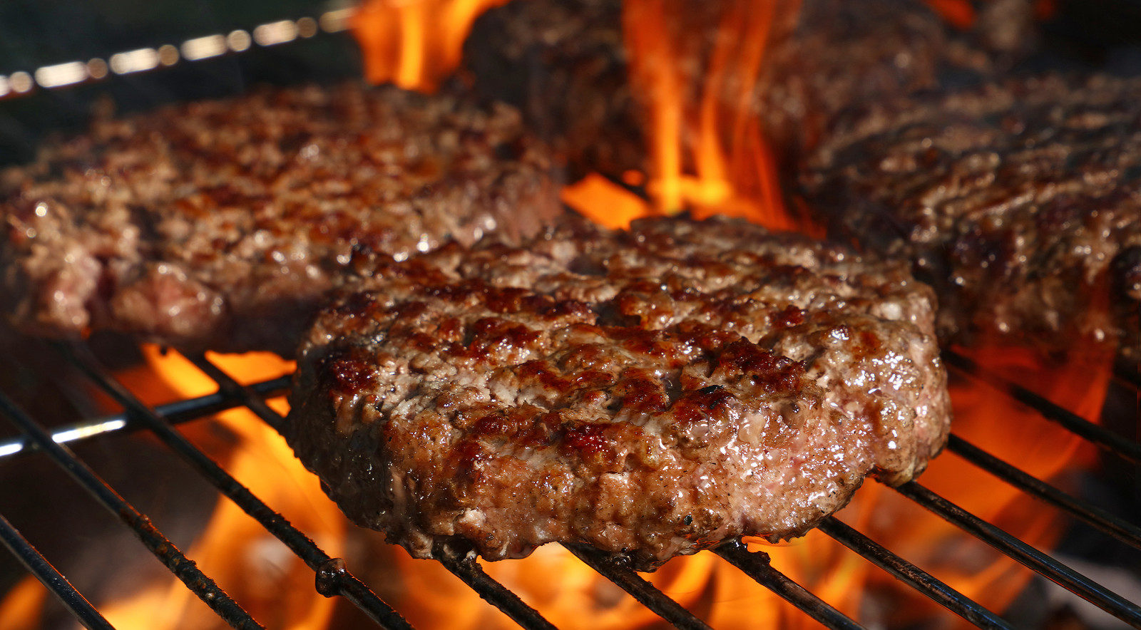 Close Up Beef Or Pork Meat Barbecue Burgers For Hamburger Prepar